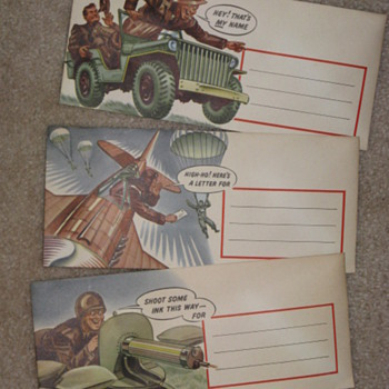 WWII Envelopes - Military and Wartime