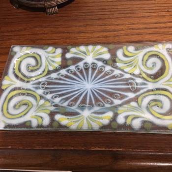 Higgins Art Glass. Controlled Bubbles in the Design !!!!!! 70's  - Art Glass