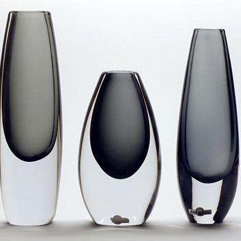 Strömbergshyttan Smoke-grey,  1959-63. - Art Glass