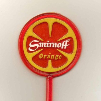Smirnoff Orange Vodka - Cocktail Stirrer - Advertising