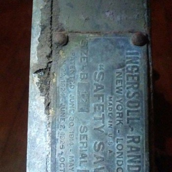 Early military pneumatic safety saw made by Ingersoll Rand - Tools and Hardware