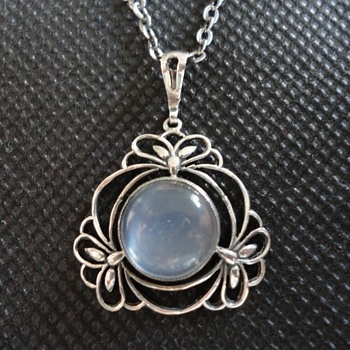Liberty & Co Silver and Moonstone Necklace by William Hair Haseler - Fine Jewelry