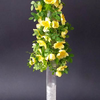 Loetz: Marie Kirschner, PN 1090/171, ribbed and spun crystal. - Art Glass