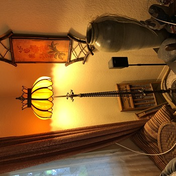 Twisted wrought iron floor lamp - Lamps