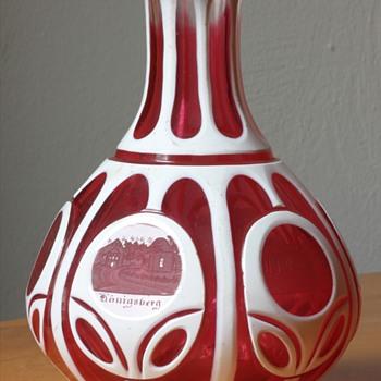Cut mid 19th century bohemian carafe - Art Glass