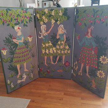 Vintage room tapestry room divider - Furniture