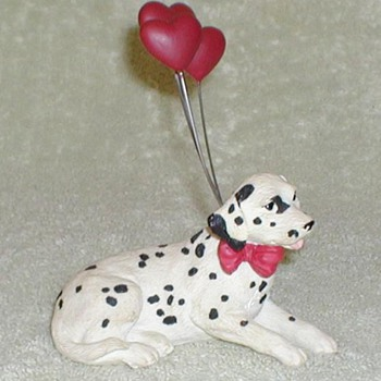Dalmatian with Heart Balloons - Animals