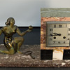 Fritz Marti Movement French Marble Art Deco Figural 8 Day Clock , 1920-25