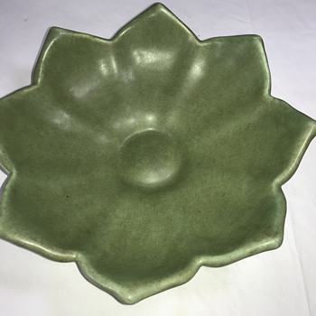 Camack Pottery, Matte Green Leaf/Flower Shaped Bowl - Pottery