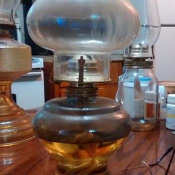 my old vintage lovely oil kerosene lamps