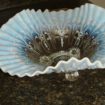 Glass - blue tint-have many of these-dish and bowl - Glassware