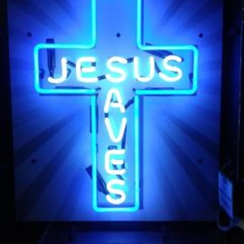 Jesus neon sign  - Advertising