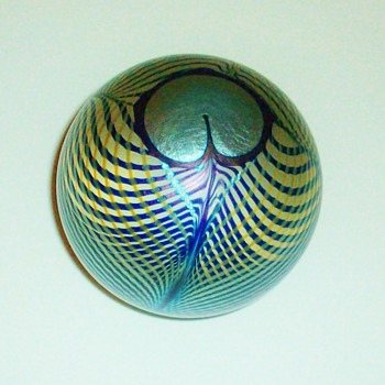 Steven Correia Peacock Feather Paperweight.