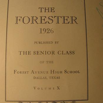1926 School Annual - Forrester Avenue H.S. Dallas,Tex. - Books