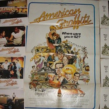 American Graffiti-w/full numbered set of 8 lobby cards - Posters and Prints