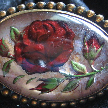Vintage Rose Lucite Brooch - Costume Jewelry