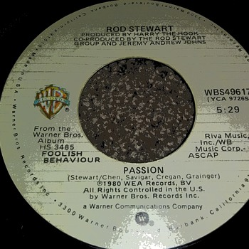 Sir Rod Stewart...On 45 RPM Vinyl - Records
