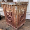 Iron Planter with Lion Rings