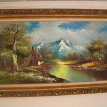 Vintage G.Whitman Beautiful Landscape Oil Painting - Fine Art