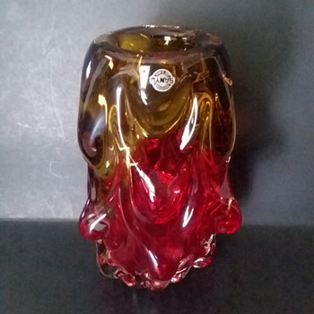 Sanyu lumpy vase - Art Glass