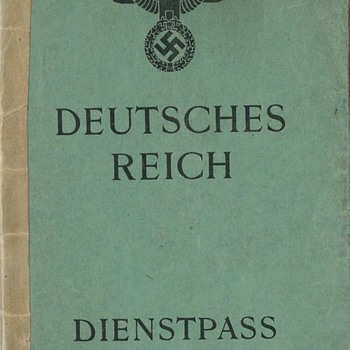 1944 German Dienstpass service-passport