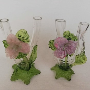 Kralik Double Thorn Vases - Art Glass