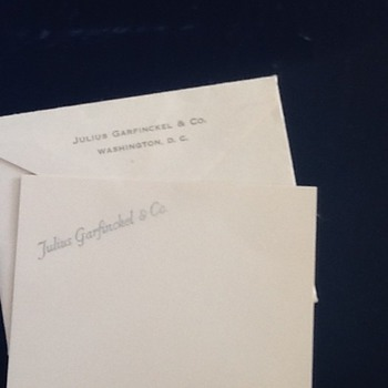 Julius Garfinkel Gift card - Paper