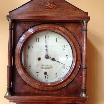 MYSTERY: E. Davy Howestoff - Grandfather clock - Allegedly from 1700's