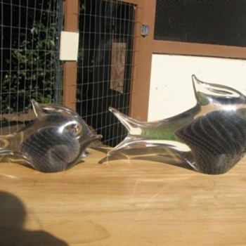 Signed Marcolin Brothers Fish - Art Glass