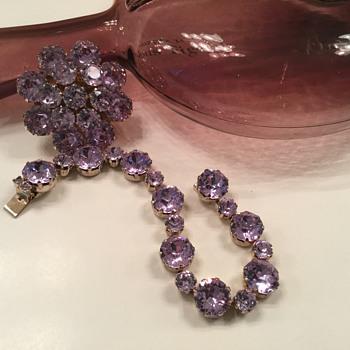 KRAMER BROOCH & BRACELET...alexandria! - Costume Jewelry