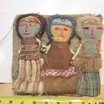 Early Peruvian cloth root dolls - Dolls