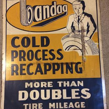 Bandag vintage sign