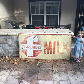 1950's Foremost Milk Tin sign - Signs