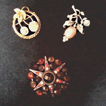 Two Pins and a Brooch  - Costume Jewelry