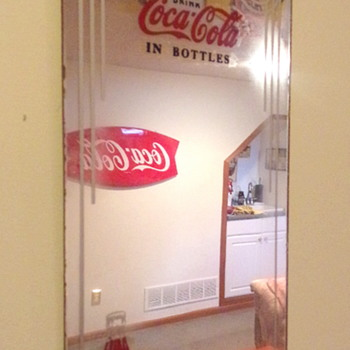 1930's Coca-Cola Reverse Painted Mirrors - Coca-Cola