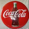 """48 """" Coca Cola Porcelain Button Sign"""