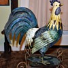 Shabby Painted Tin Gallo / Rooster