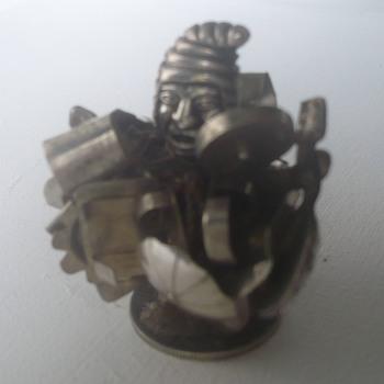 Bolivian silver figure (weird)  - Silver