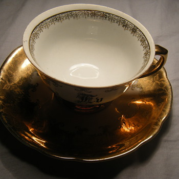 Golden Vintage Coffee set from Brazil, great cond.