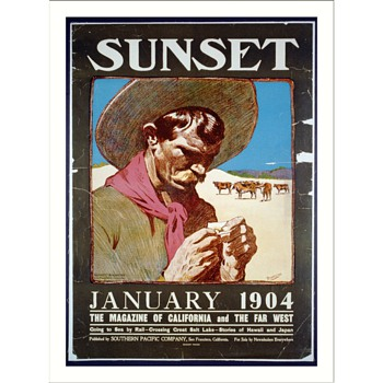 1973 poster Sunset, January 1904