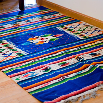 Vintage Mexican Serape - Rugs and Textiles
