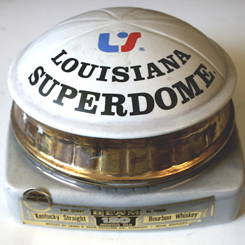 Louisiana Superdome decanter by Jim Beam - Advertising