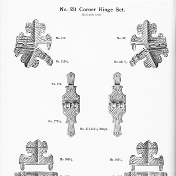 Trunk hardware from the 1915 JH Sessions Catalog  - Furniture