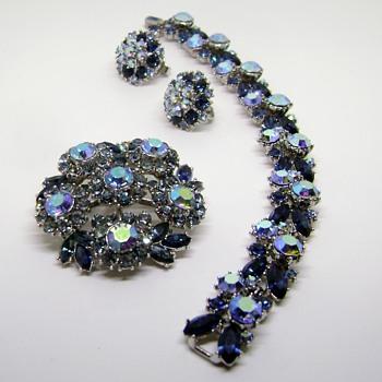 TRIFARI BROOCH EARRINGS & BRACELET - Costume Jewelry