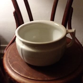 Opaque Stone China Chamber pot Anthony Shaw & Co. England - China and Dinnerware