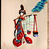 Japanese Geisha Image on Board