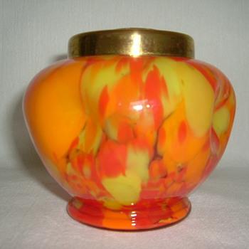 Czech Art Deco Spatter - Art Glass