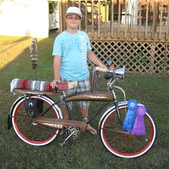 "My Son & His favorite Bike ""Slo' Poke""...The Rat Bike"