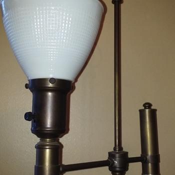 "brass floor lamp, ""GEORGIAN"" (?) - Lamps"