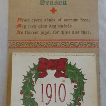 Christmas Postcard Calendar 1910 - Postcards
